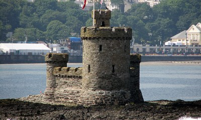 the Isle of Man - The Tower of Refuge on the Isle of Man