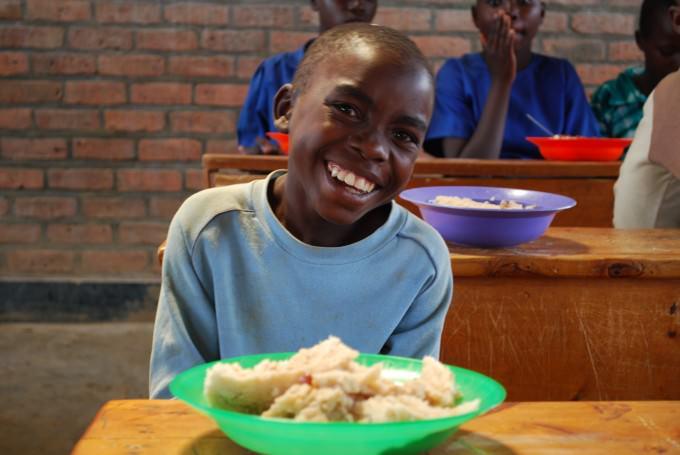 ルワンダの給食の時間