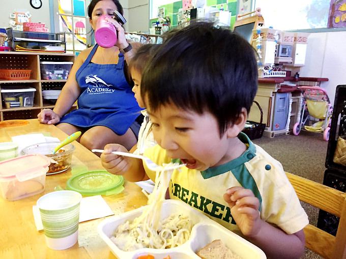 短期ハワイ親子留学中のプリスクールの様子