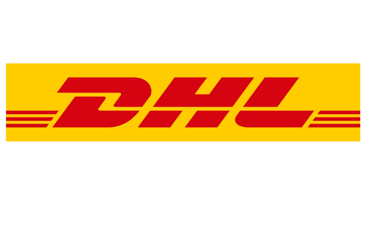 DHL logo, to reflect the importance of branding.