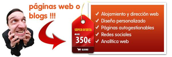 Tu página web o blog desde sólo 350€