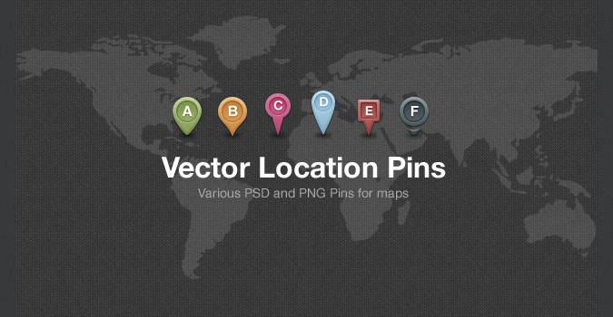 Vector Map Location Pins