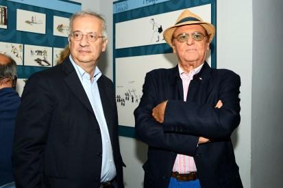 Walter Veltroni e Renzo Arbore