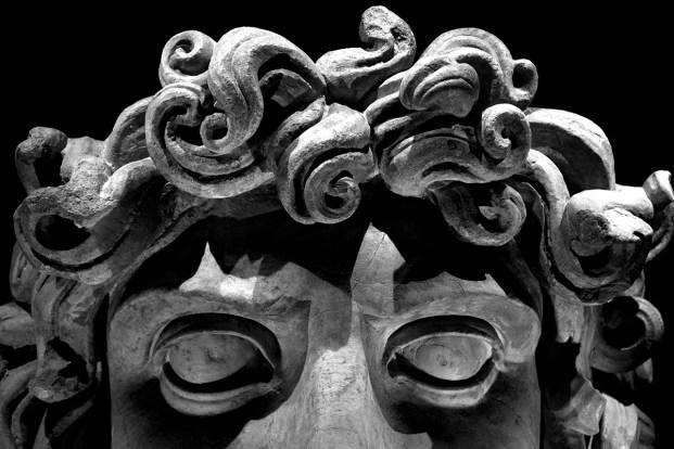 Testa di Gorgone - II secolo d.C. - Particolare