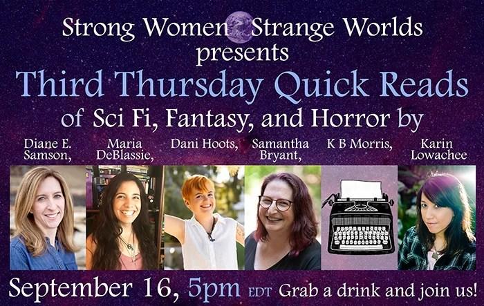 Strong Women - Strange Worlds Virtual Reading 9/16/21