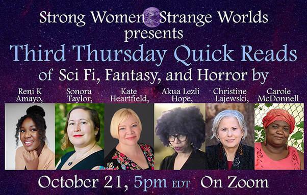 Strong Women - Strange Worlds 10/21/21 Virtual Readings