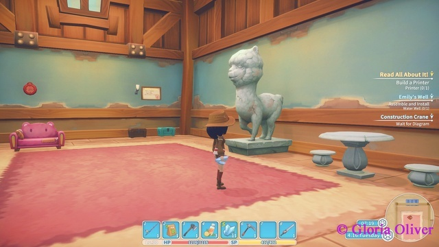 My Time at Portia - Llama statue