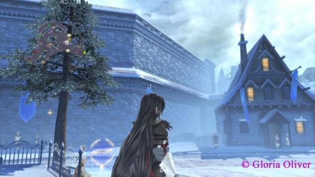 Tales of Berseria - winter in town