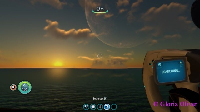 subnautica - sunset on an alien world