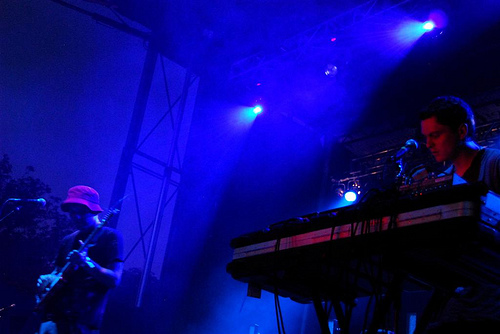 Avey Tare and Panda Bear at the 2008 Pitchfork Festival