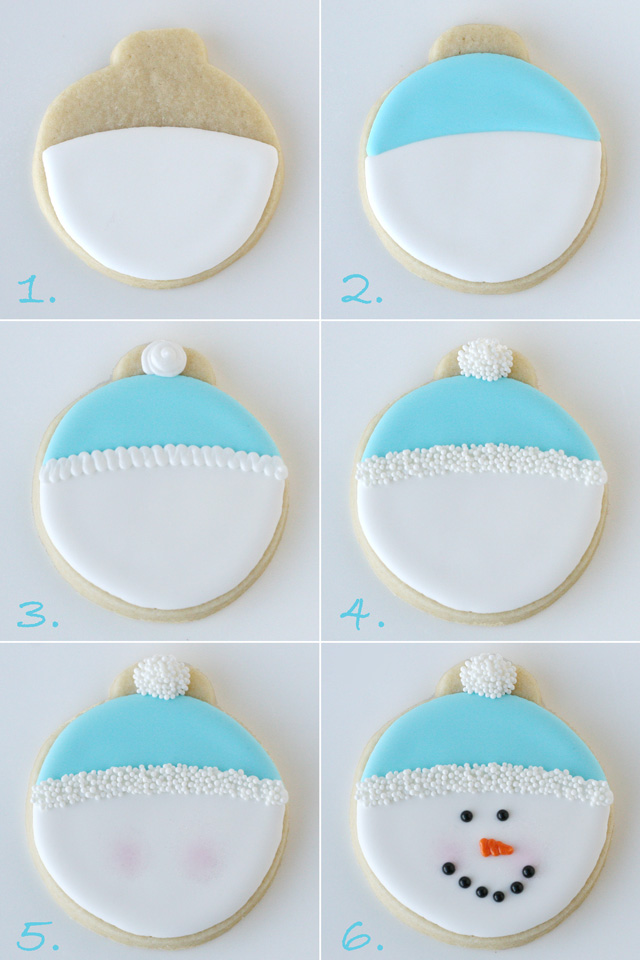 Snowman Face Cookies (how-to) - from glorioustreats.com