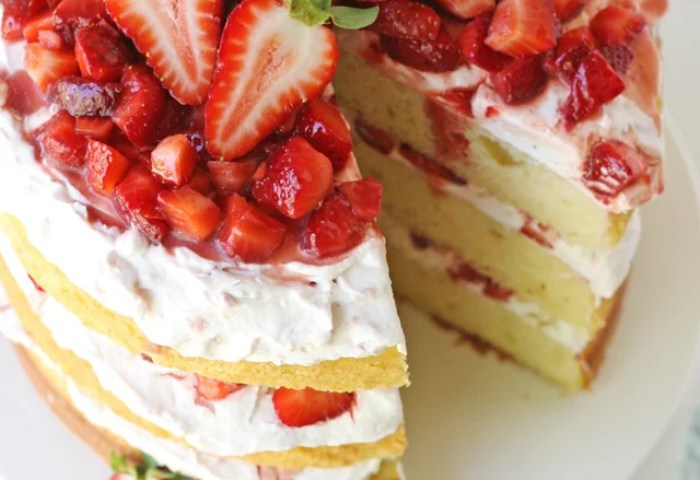 The Best Strawberry Shortcake Cake Glorious Treats