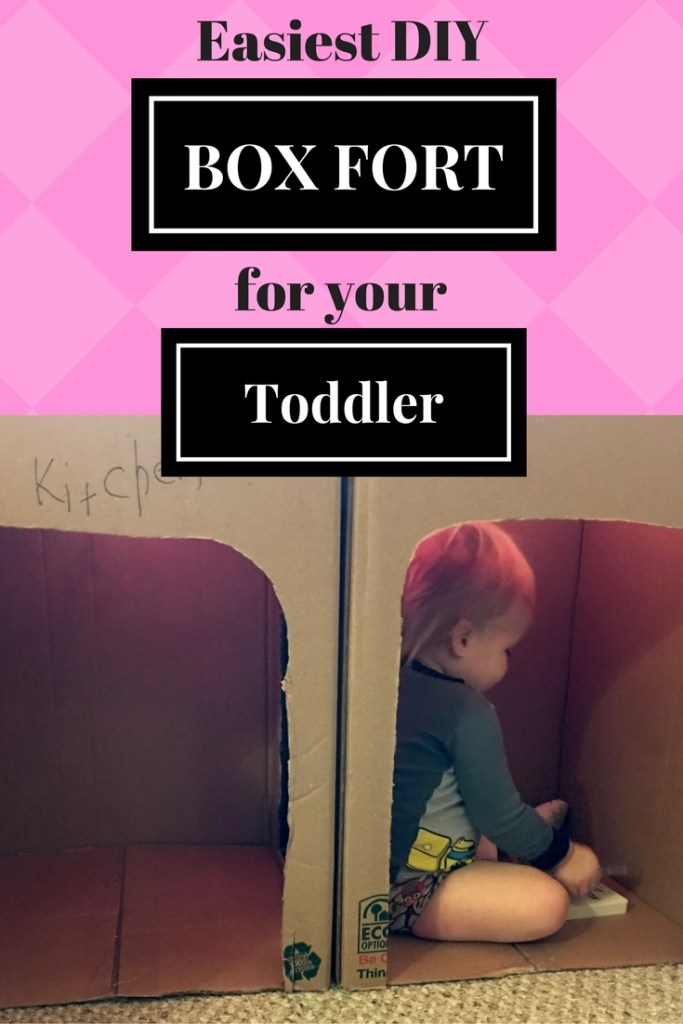 the easiest diy box fort for your toddler gloryanna boge
