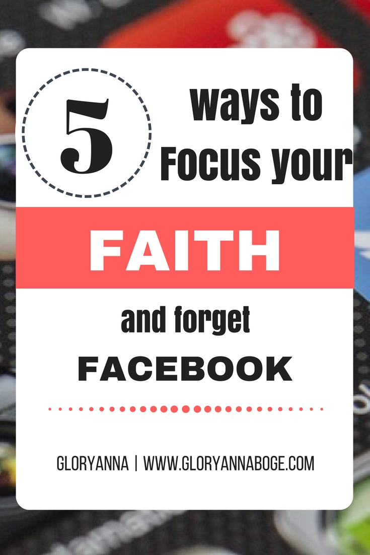 Looking for ways to detox from social media? Maybe you have social media anxiety. Maybe you feel like you've lost focus of your faith because of the time you spend on social media. Well, here are five tips to help you focus your faith and forget about social media.