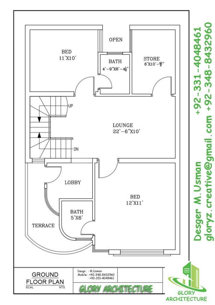 4 marla house plan