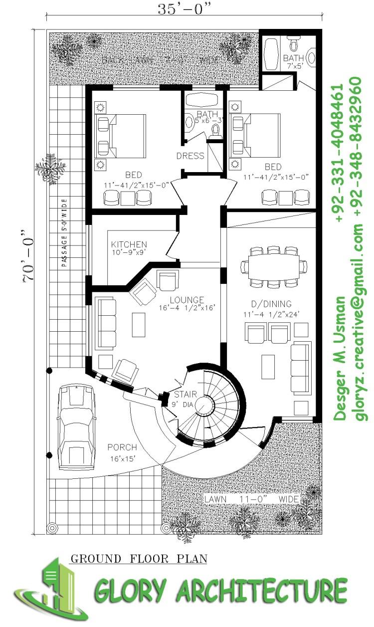 35x70 house plan