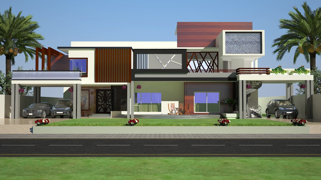 2 KANAL 3D FRONT ELEVATION