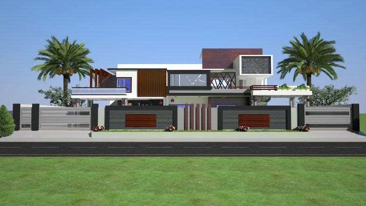 2 KANAL HOUSE BOUNDARY WALL DESIGN