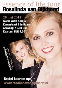 Flyer Essence of life tour Baarn 26 mei 2013