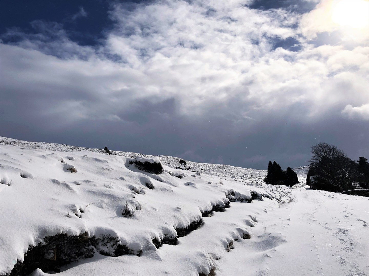 SNOW ON THE NORTH YORKSHIRE MOORS