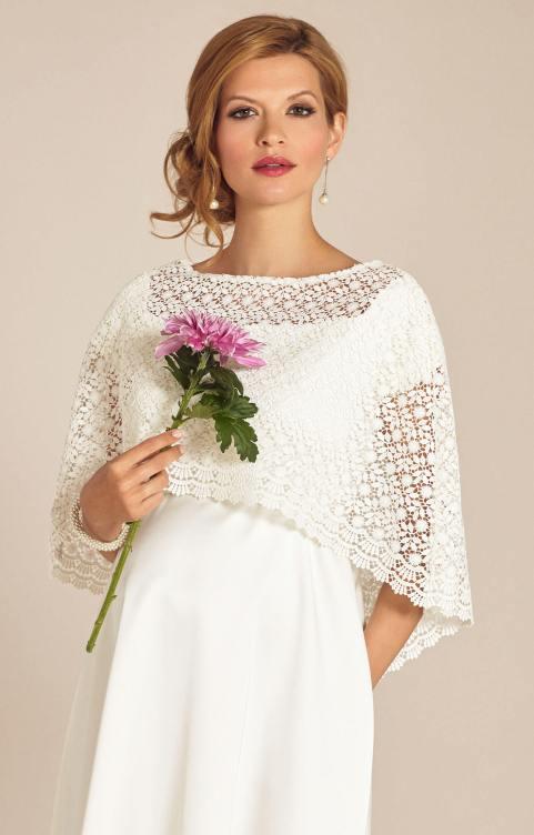 Boho Style Wedding Dress Capelet