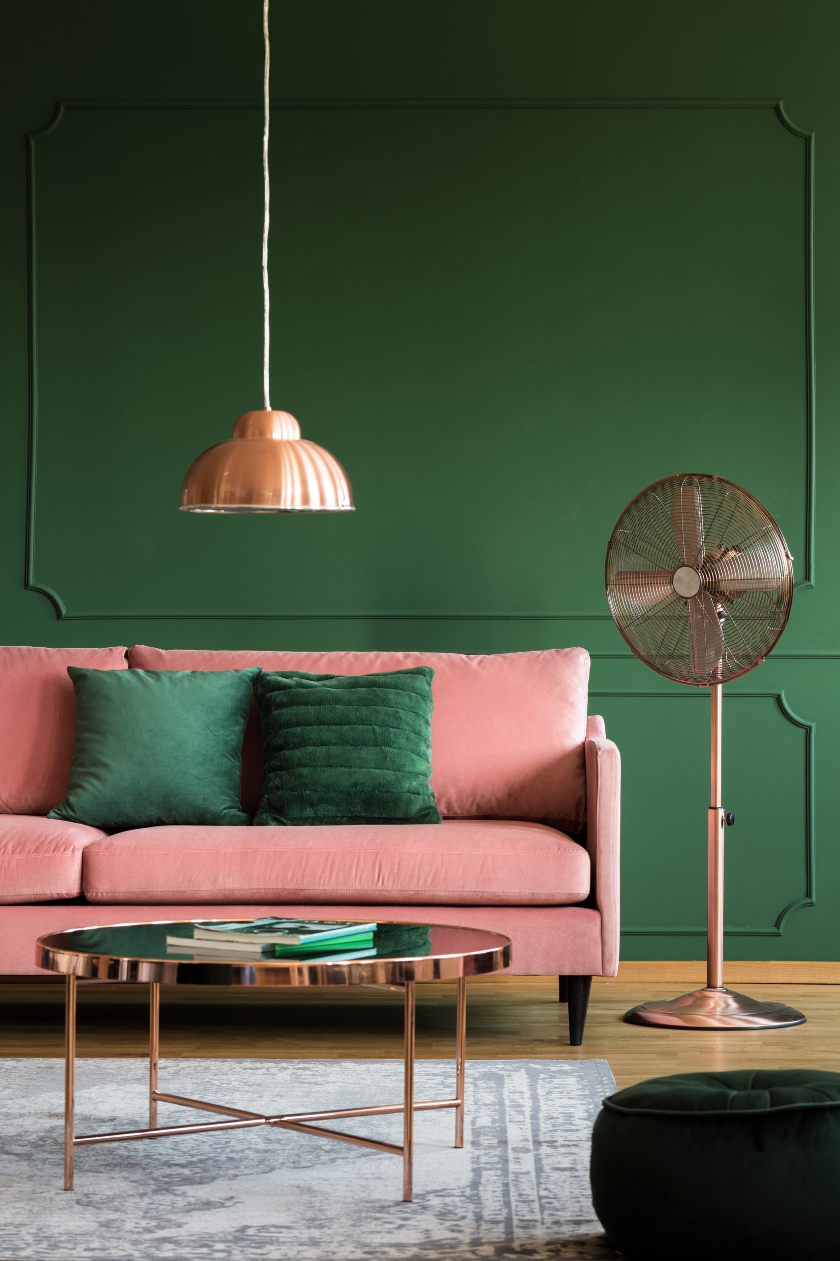 rose gold living room accessories