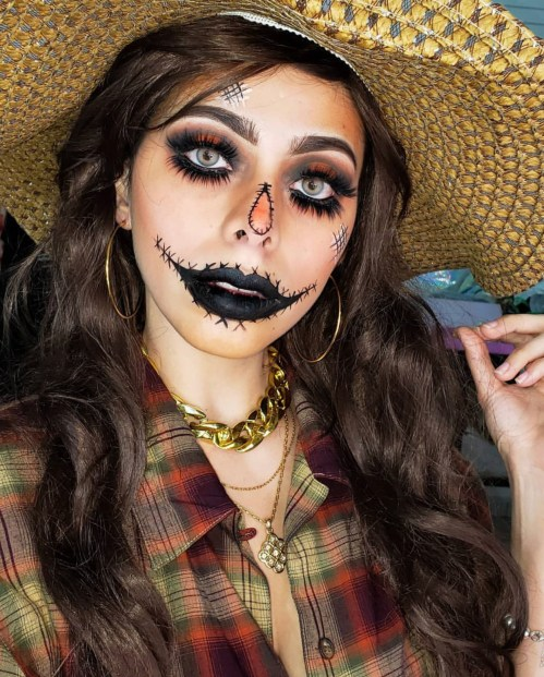 Halloween makeup by @paaimoda