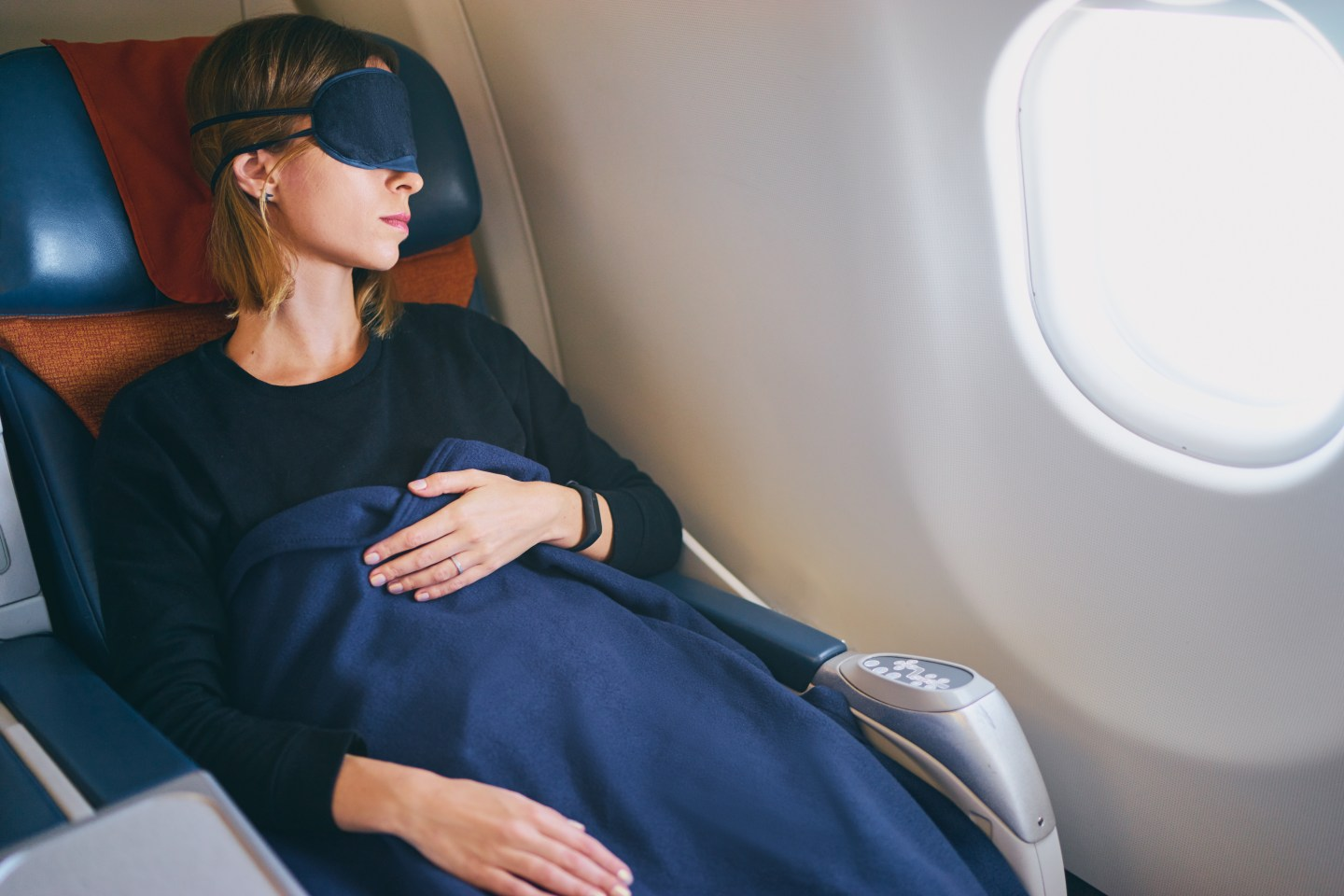 sleep hacks for a long haul flight
