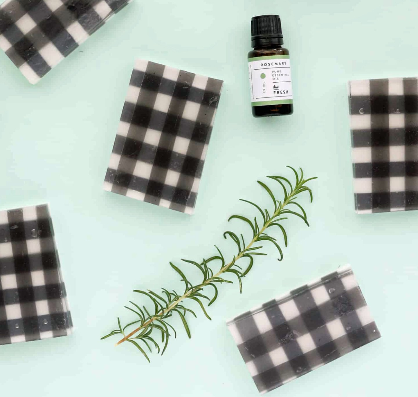 DIY Gifts For Men: Buffalo Check Rosemary Soap via A Beautiful Mess