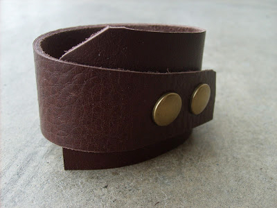 DIY Gifts For Boyfriend: Leather Cuff via The Red Kitchen