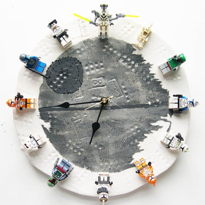 DIY Gifts For Boyfriend: Lego Star Wars Clock via Instructables