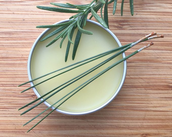 Handmade Gifts For Him: Rosemary Pine Beard Balm via Grow Forage Cook Ferment