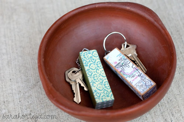 DIY Gifts For Boyfriend: Jenga Keychain via Sarah Ortega