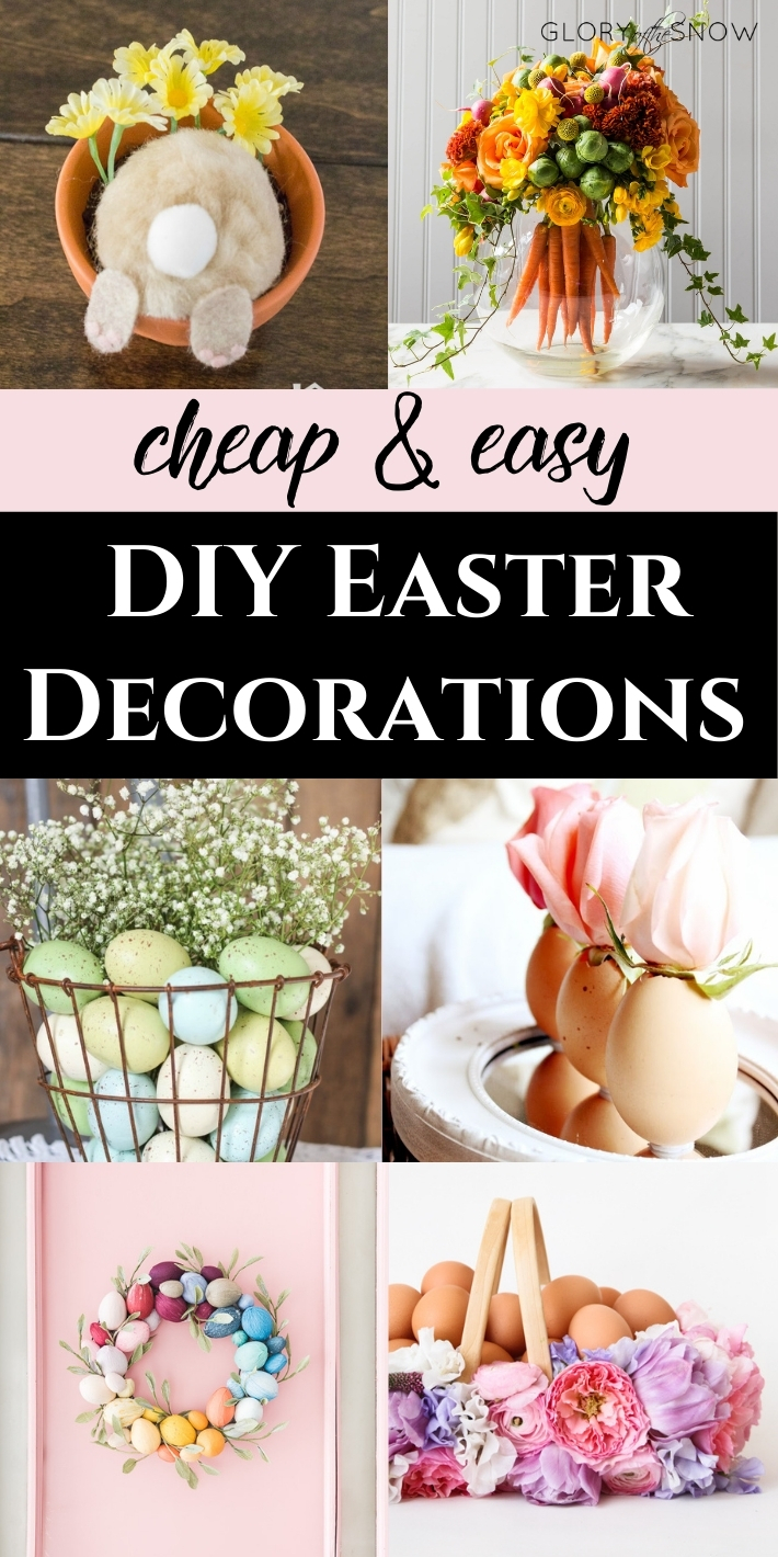 CHEAP AND EASY DIY EASTER DECORATIONS AND CRAFTS FOR INDOOR AND OUTDOOR