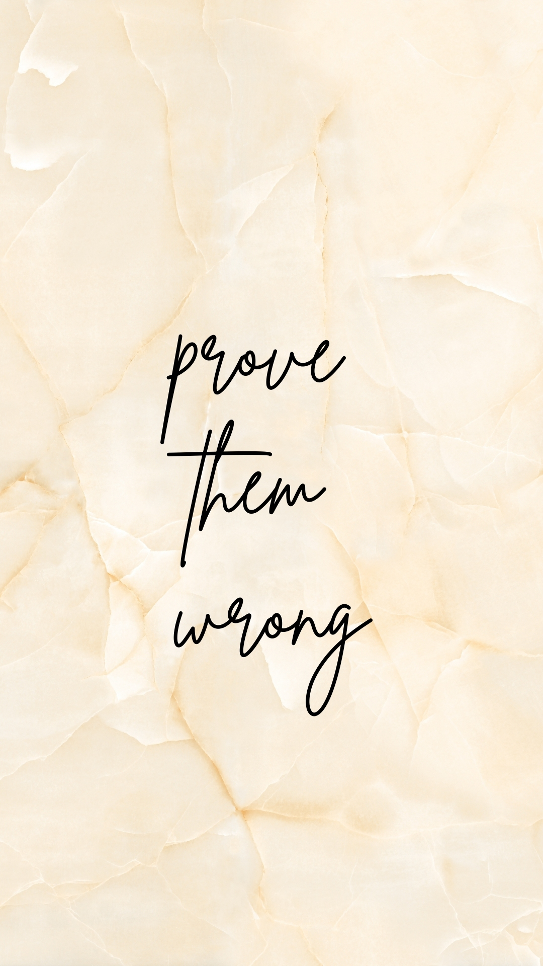 Minimalist iPhone Wallpaper: Prove Them Wrong Wallpaper