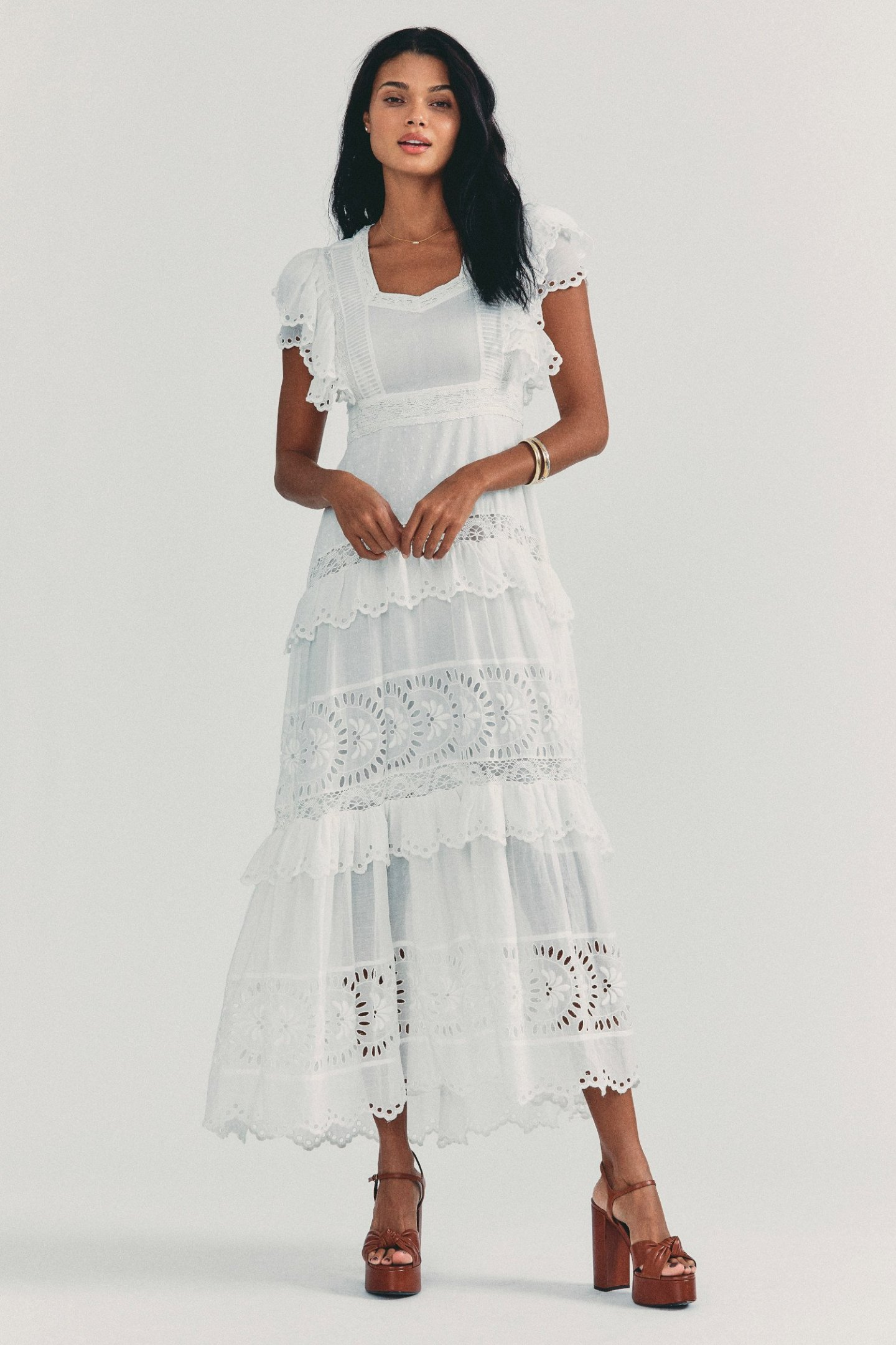White Cottagecore Dress