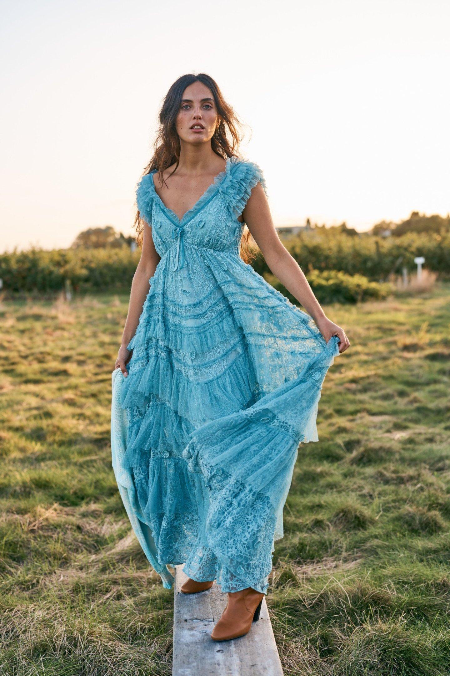 Long Cottagecore Style Dress