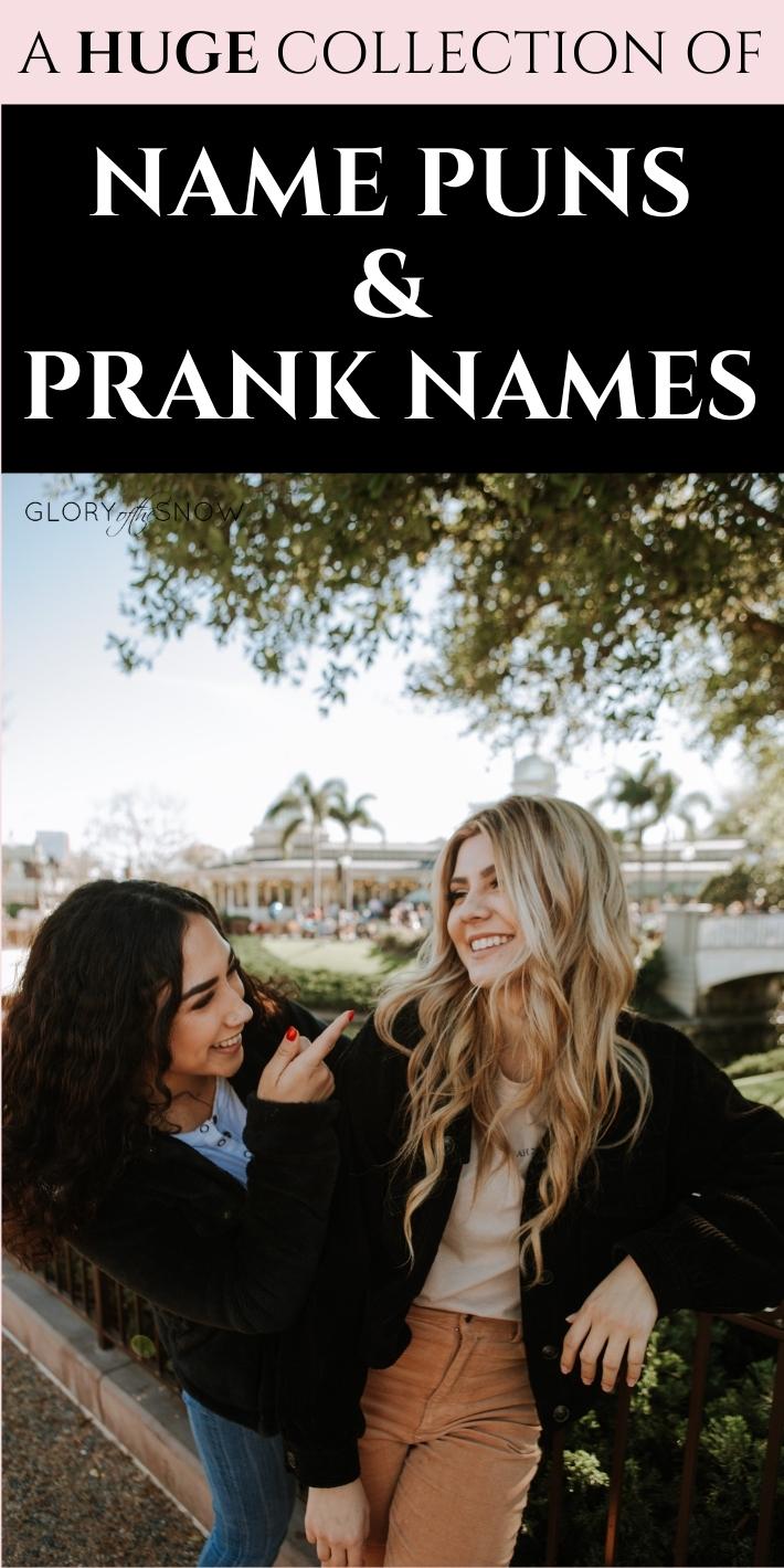 NAME PUNS AND PRANK NAMES