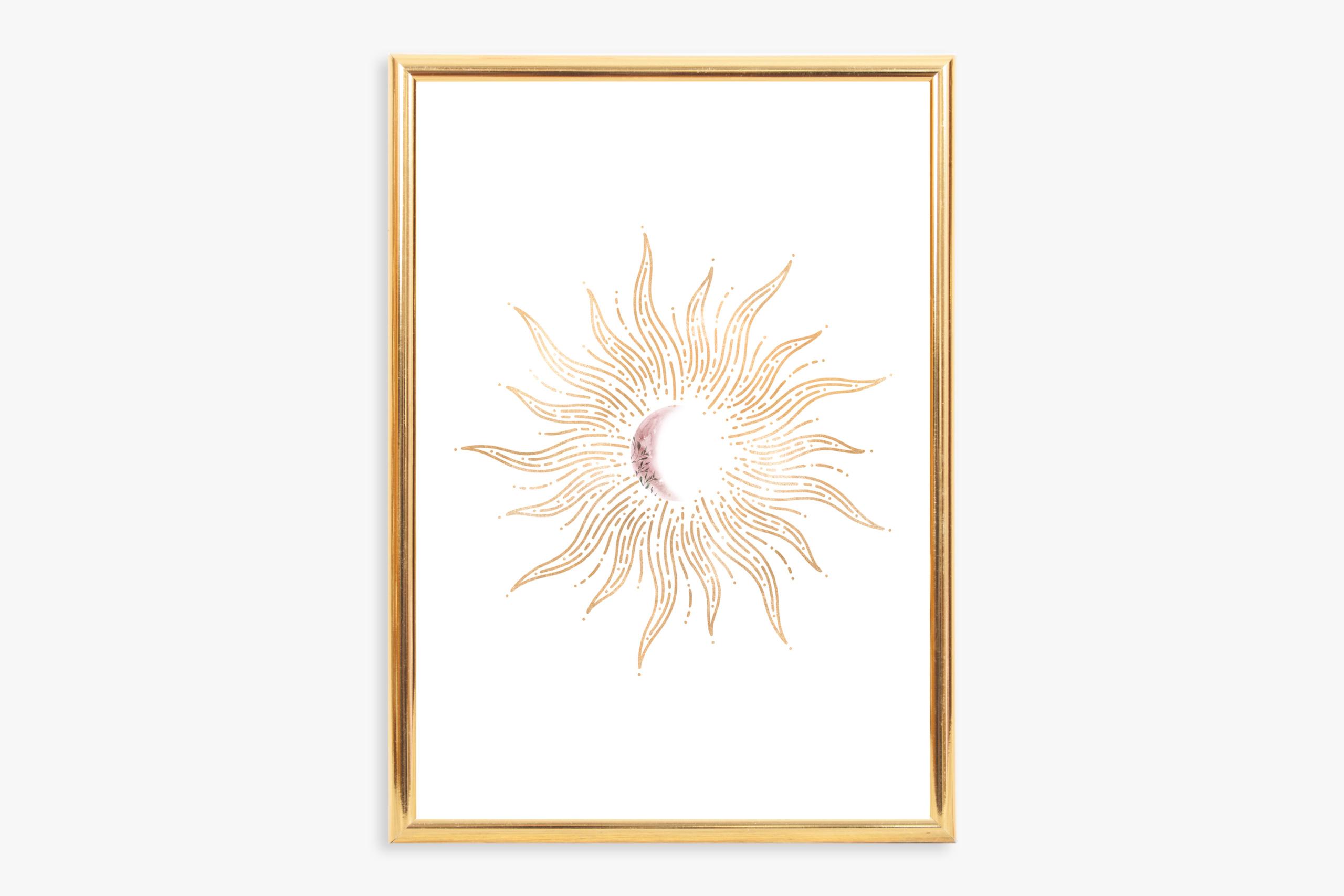 Celestial Wall Art: Sun And Moon