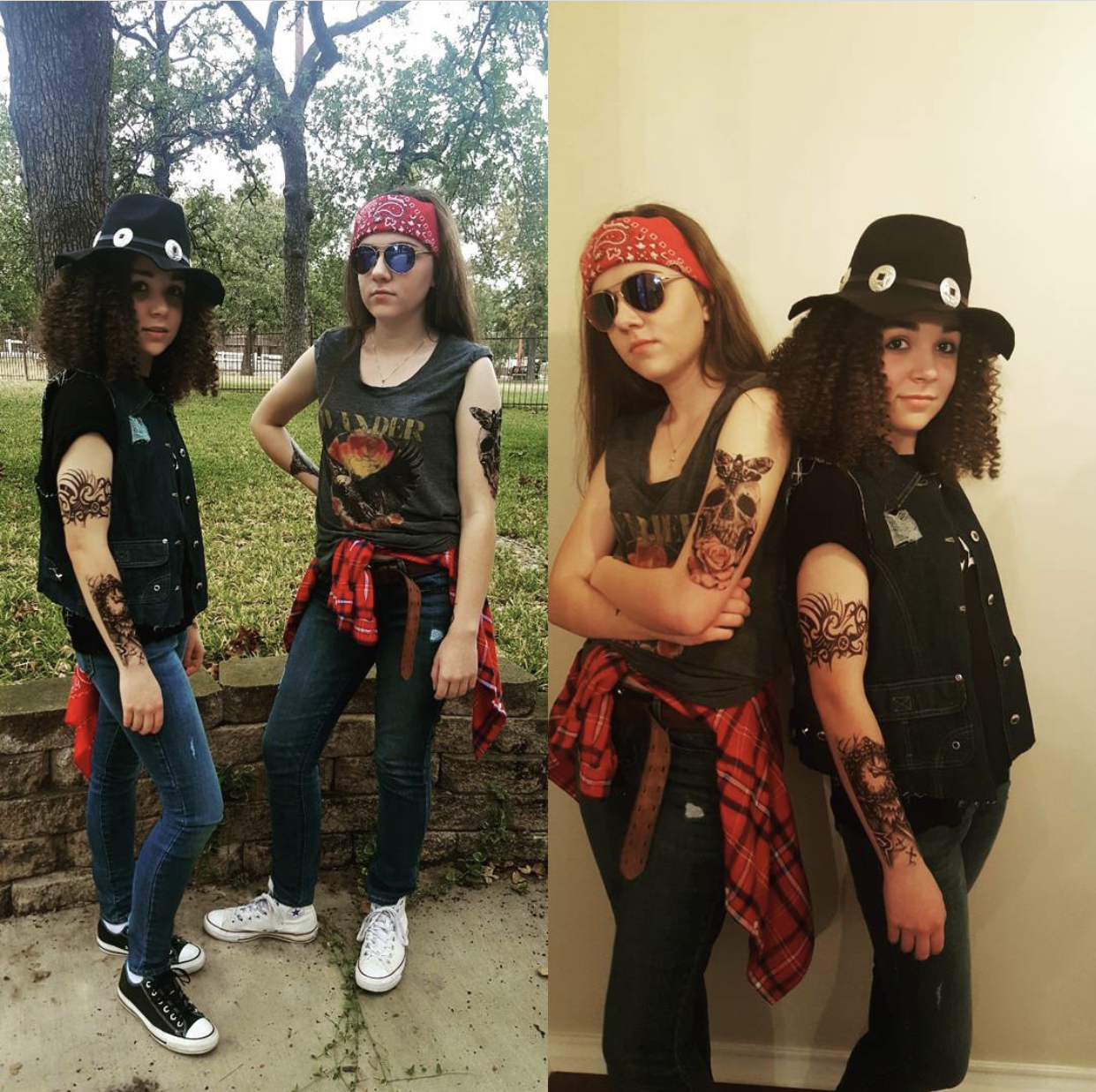 Halloween Costumes For Teenage Girl Best Friends: Axl Rose And Slash