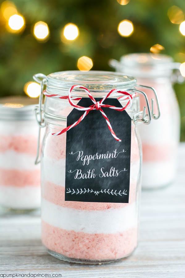 DIY Christmas Gift Ideas For Her: Peppermint Bath Salts