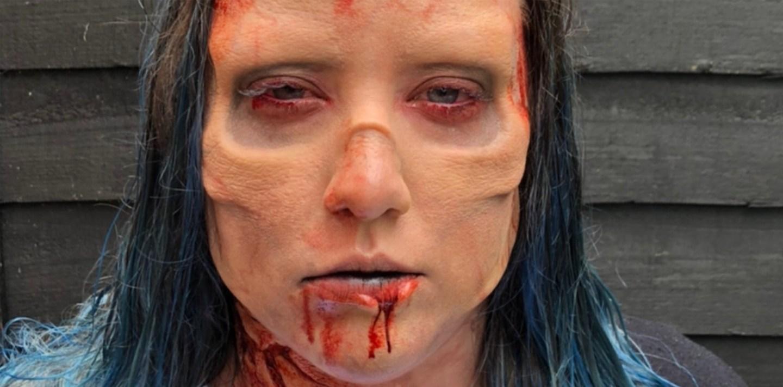 Zombie Eye Socket And Nose Bridge Prosthetic