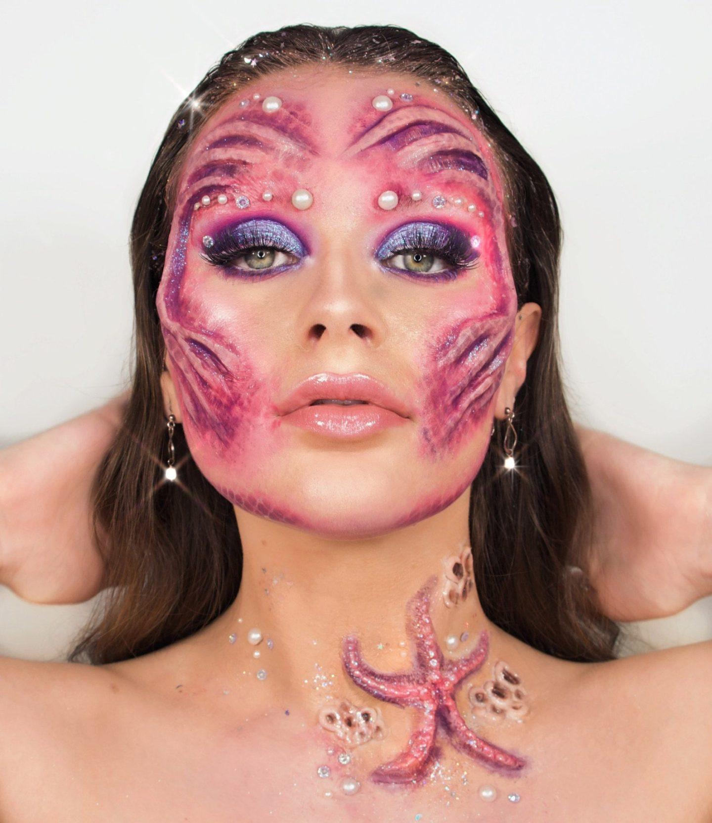 Mermaid Halloween SFX Face Prosthetic