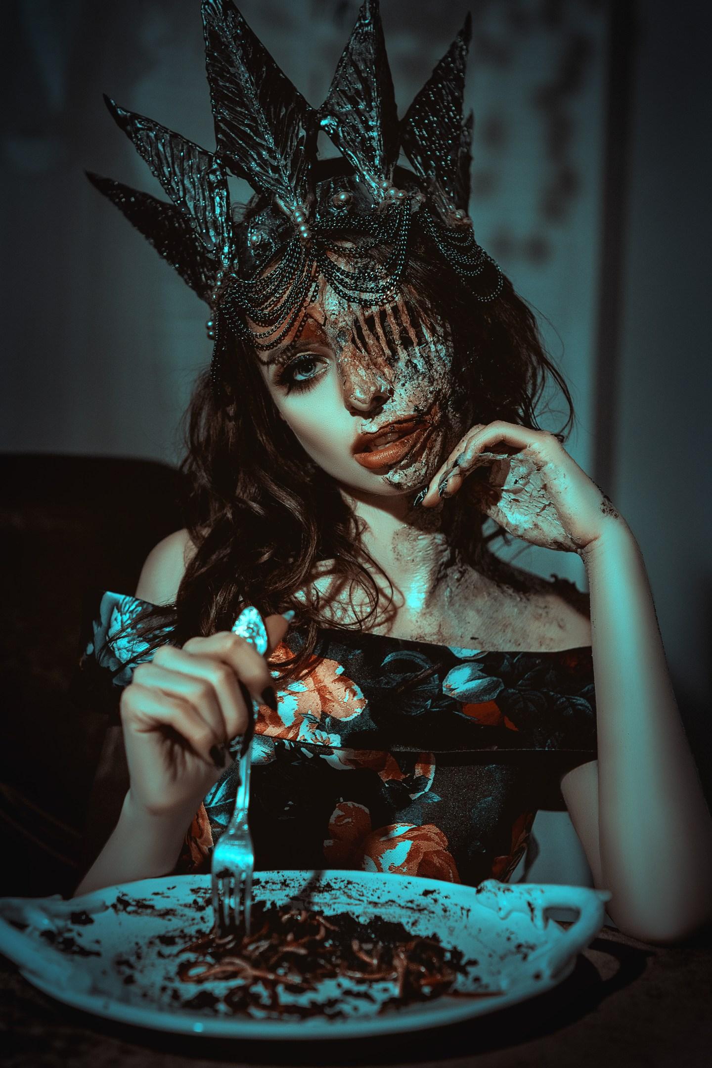 Halloween Face Prosthetics Makeup