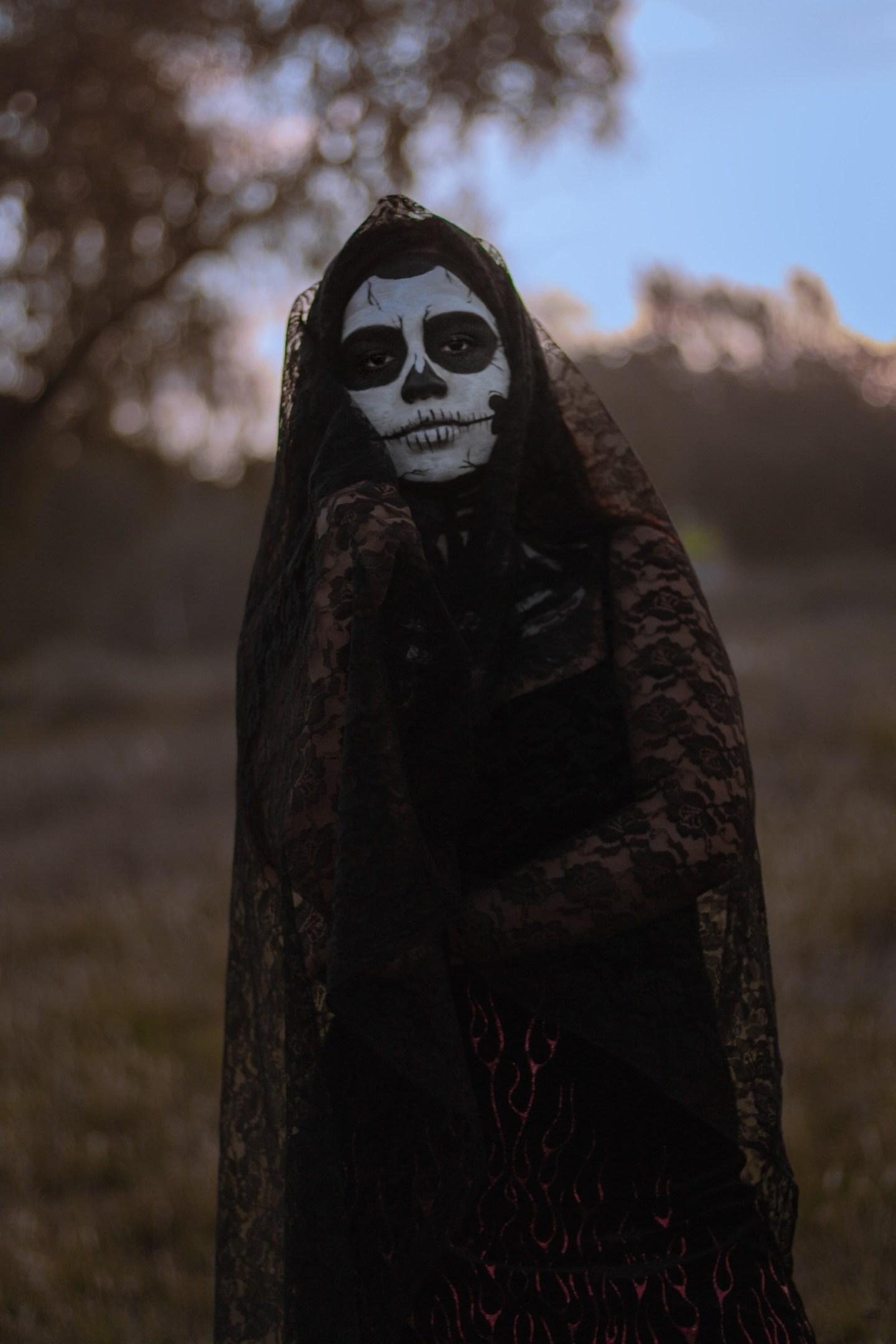Skeleton Bride Halloween Costume For Teen Girls