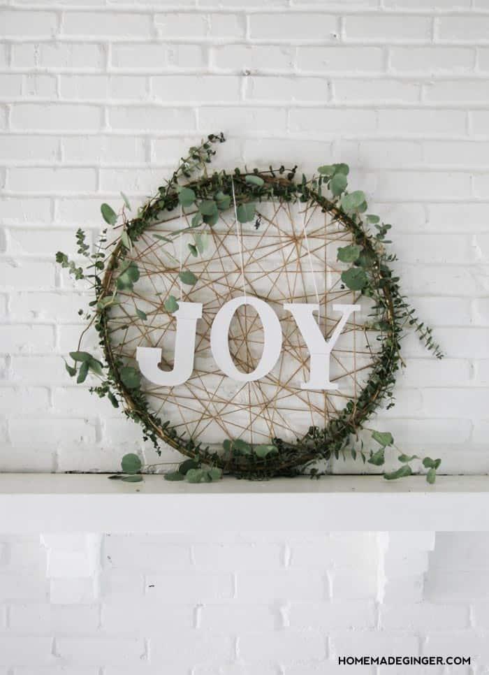 Giant DIY Dream Catcher Christmas Wreath