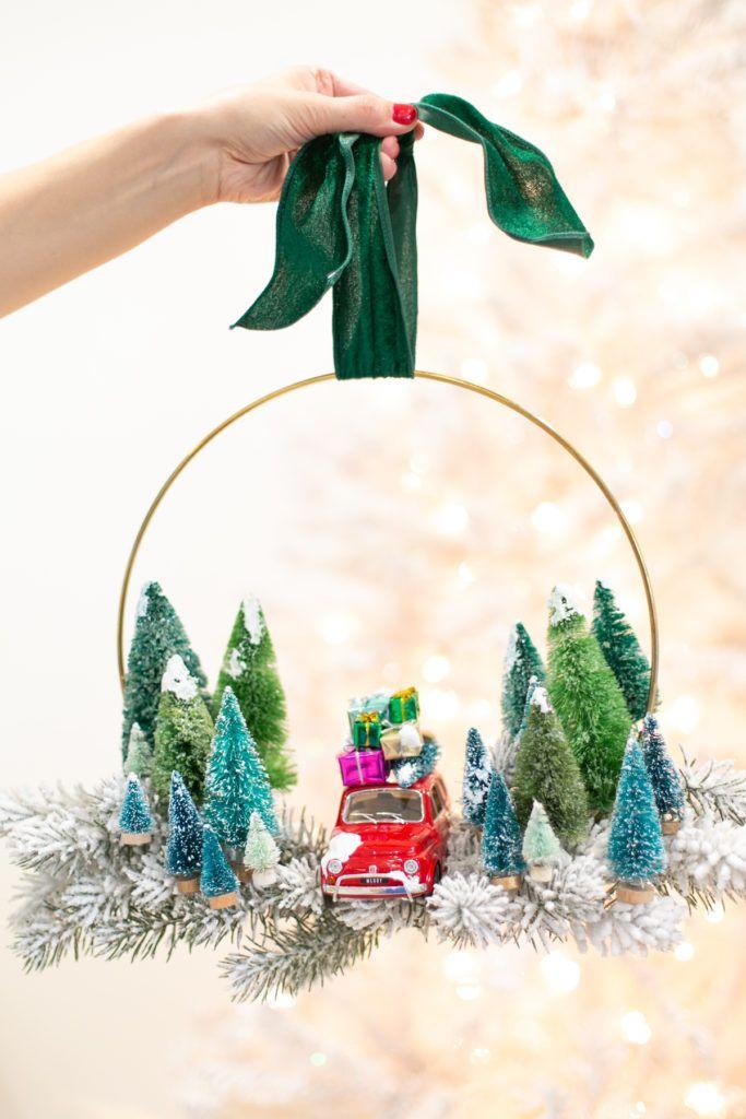 DIY Vintage Toy Car Christmas Wreath