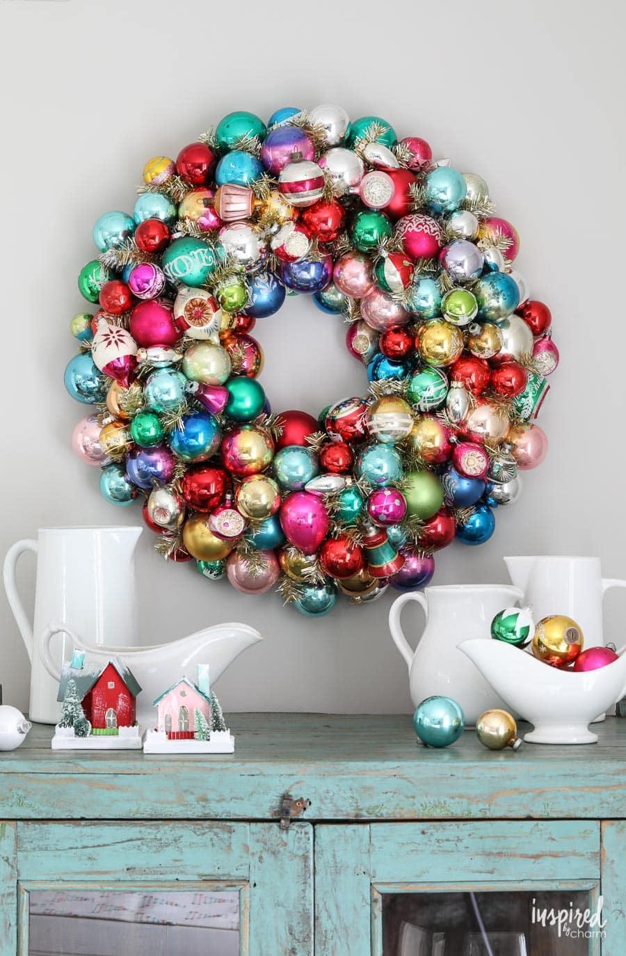 DIY Vintage Ornament Wreath