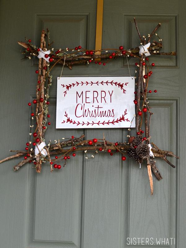 DIY Merry Christmas Scandinavian Wreath
