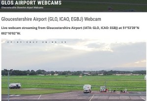 The Gloucestershire (Glos) Airport Webcam is launched.